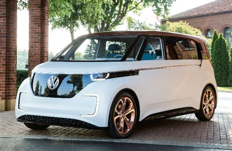 volkswagen concept van vw budd e van named 2016 concept truck of the year
