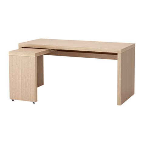Malm Desk With Pull Out Panel by Malm Desk With Pull Out Panel White Stained Oak Veneer