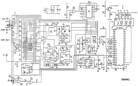 schematic diagram in electronics the m890g digital multimeter