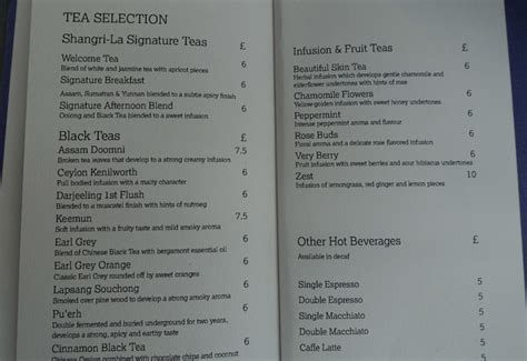 the front room menu review shangri la hotel at the shard travelsort
