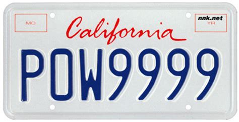 California Vanity License Plates by California License Plates Optional Issues