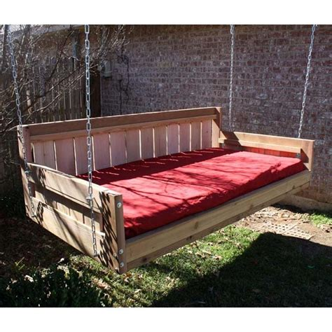 large porch swing bed tmp outdoor furniture country cedar large size swing bed