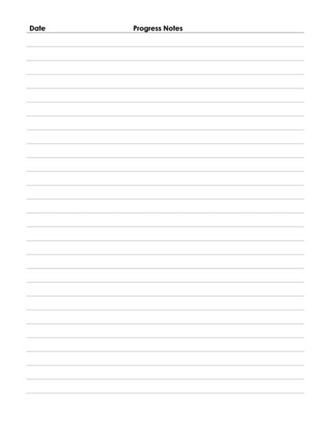 progress note template 4 best images of printable progress note form