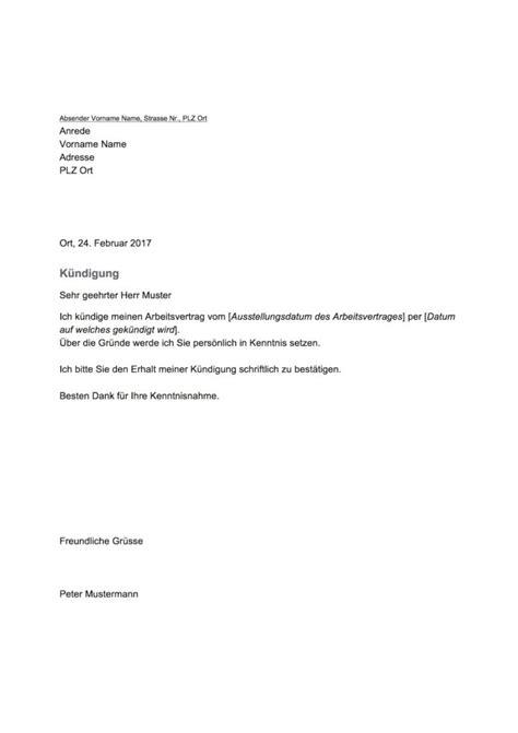 Vorlage Spendenbescheinigung Schweiz K 252 Ndigung Vorlage Schweiz Arbeitnehmer Vorlage Muster Ch