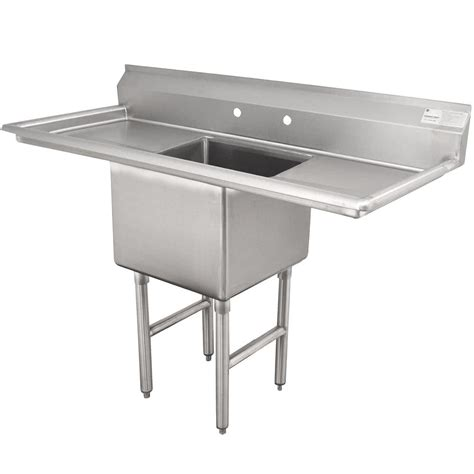one compartment stainless steel sink advance tabco fc 1 2424 24rl one compartment stainless