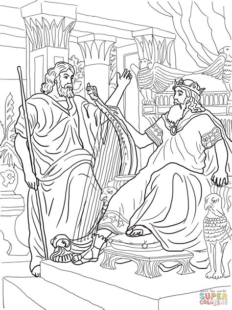 coloring pages for king david king david and nathan coloring online super coloring