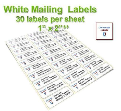 universal label templates for word avery 5160 labels ebay