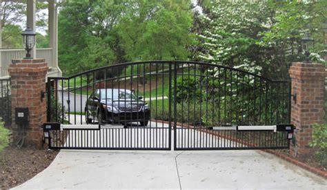 auto swing gate double actuator automatic motor powered remote swing gate