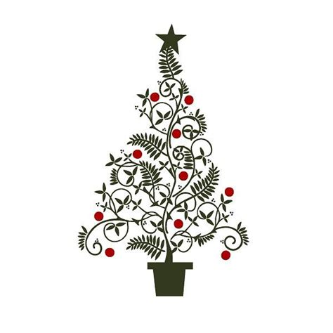 fancy christmas tree clipart clipart suggest