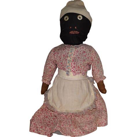 black doll antique antique black cloth bottle doll from joan