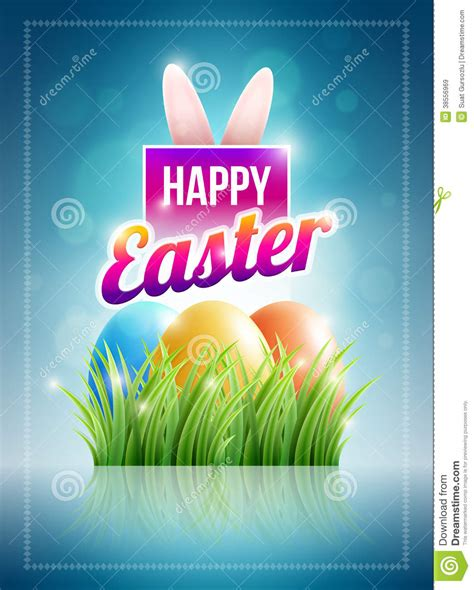 printable happy easter poster happy easter poster royalty free stock images image