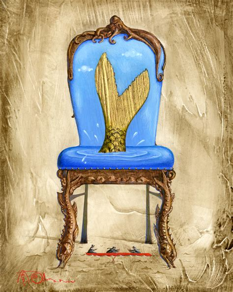 The Mermaid Chair by Olga Aleksey Ivanov New Egg Tempera Paintings From