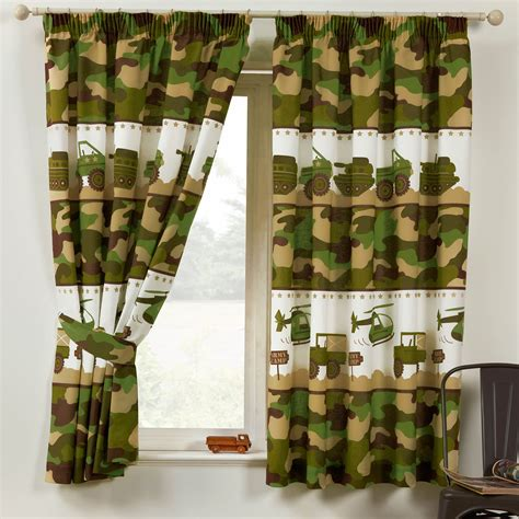 how to give yourself curtains boys boys kids bedroom curtains 54 quot 72 quot army football