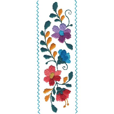 mexican machine embroidery designs embroidery patterns mexican flowers border 1 fs239 48