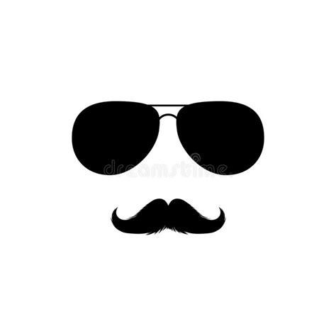 clipart occhiali la mono illustrazione di colore di vettore nero con con l
