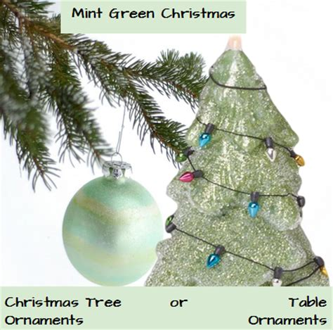mint green christmas ornaments glowing holidays
