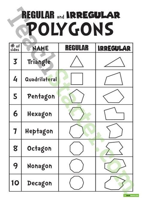 printable regular and irregular shapes regular and irregular polygons teaching resource teach