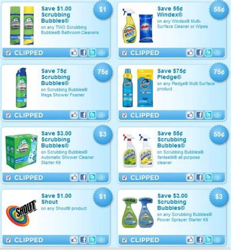 Coupon Code For Detox For Less by New Cleaning Coupons Scrubbing Bubbles Windex Pledge