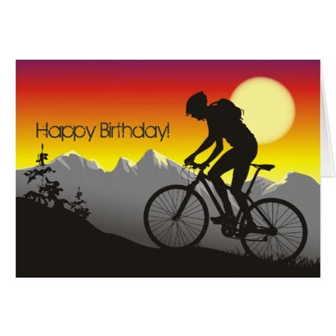 Bicycle Birthday Card Template by Mountain Bike Cards Mountain Bike Card Templates Postage