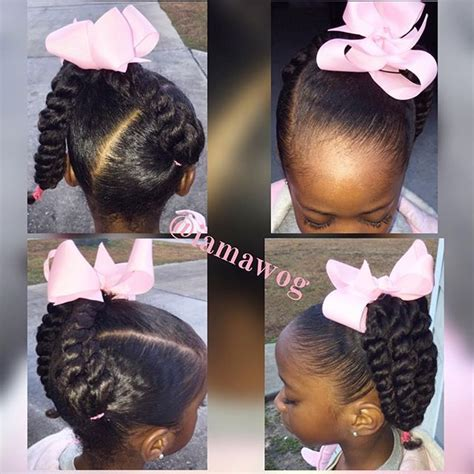 kid ponytail hairstyles twisted ponytail hairstyles for black www