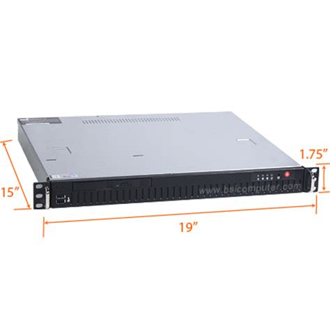 Rack Mounted Computer by 1u 15 Quot Depth Industrial Rack Mount Computer Overview Rms101