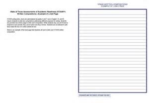 Staar Persuasive Essay Lined Paper by 7th Grade Staar Writing Essay Exles Mfacourses887 Web Fc2