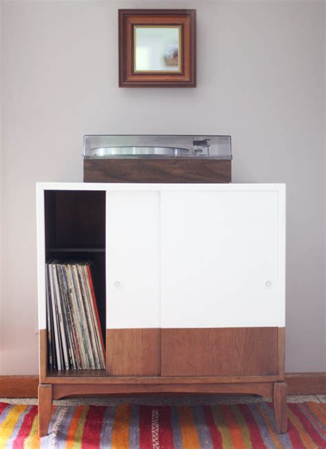 diy record player cabinet record player cabinet makeover images