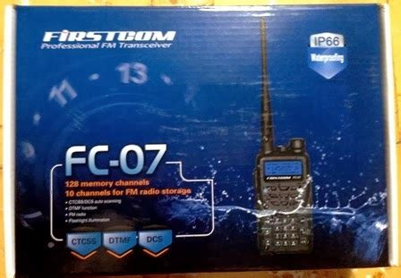 Ht Firstcom Fc 06 Single Band Vhf firstcom fc 27 dualband firstcom fc 07 single band vhf waterproof ip66 terbaru quot rumah