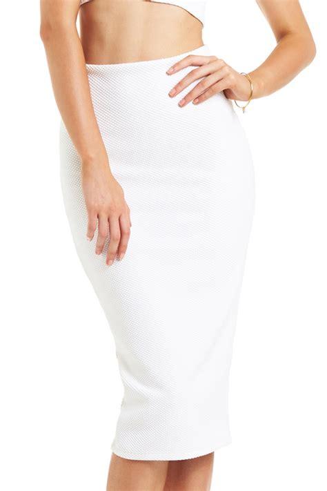 white pucker up pencil skirt buy designer dresses