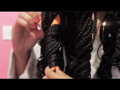 how to curl box braids with hot water braids tutorial how to curl your braids youtube