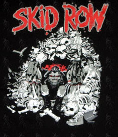 Sweater Hoodie Band Skidrow Jaket Skid Row skid row black skull cave design t shirt clothing mens unisex shirts records