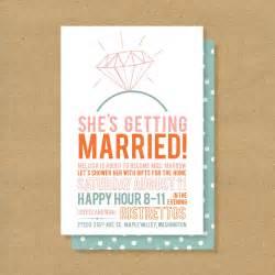 printable bridal shower invitations bridal shower invitation printable diamonds by henandco on etsy