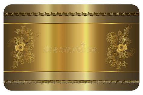 osaa gold card template business card template gold card stock illustration