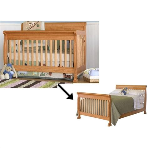 Bed Rails For Convertible Cribs Davinci Kalani 4 In 1 Convertible Crib With Bed Rails In Honey Oak M5501o M4799o Pkg