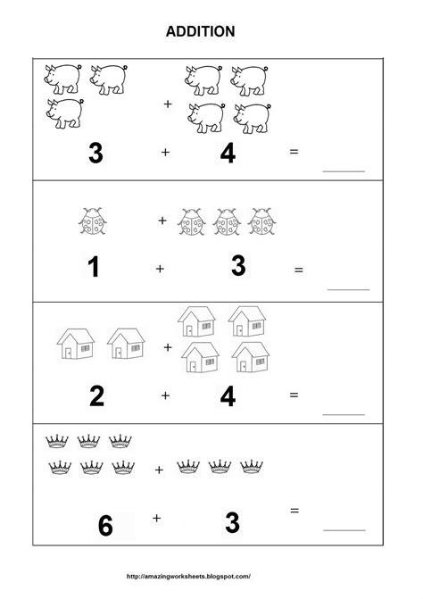 easy printable preschool worksheets easy kindergarten addition worksheets easy addition