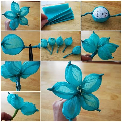 tissue paper flower craft ideas diy paper flower tutorial step by step