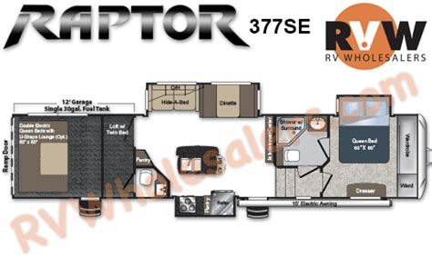 raptor rv floor plans 2013 keystone rv raptor se 377se toy hauler fifth wheel