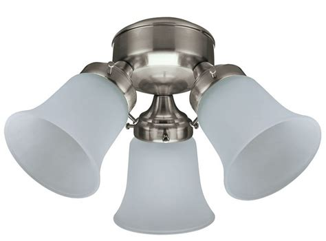 ceiling fan add on light kit 3 light flush mount