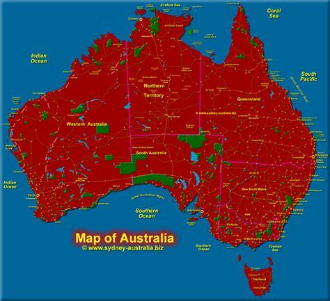 map of australia showing states map of australia with tasmania