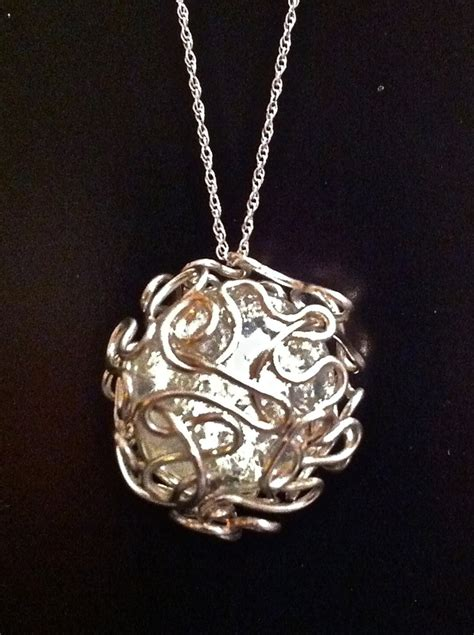 how to make a wire necklace with bird nest mess wire wrapped marble 183 how to make a wire