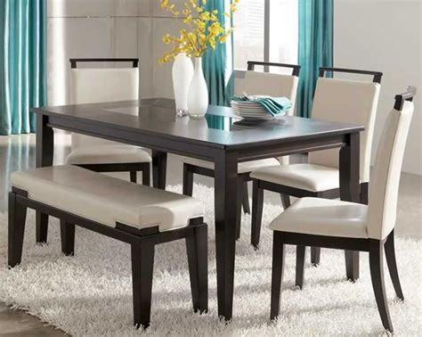 dining room sets bench ashley furniture kitchen tables trishelle contemporary