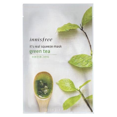 It S Real Squeeze Mask Green Tea 1sheet 20ml Masker Murah innisfree it s real squeeze mask green tea 5ea innisfree mask sheets shopping sale