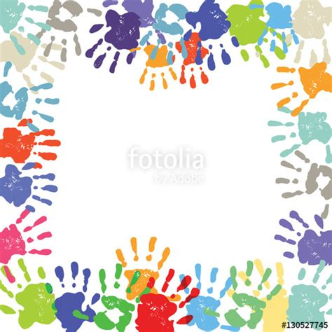 Kindergarten Background Clipart 18 by Quot Kinder Handabdruck Quot Stockfotos Und Lizenzfreie Vektoren