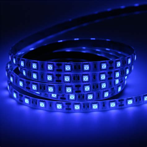 5050 Led Light Strips Bright 5m Uv Ultraviolet Led Light Dc12v 5050 300leds Purple Waterproof Led Tap