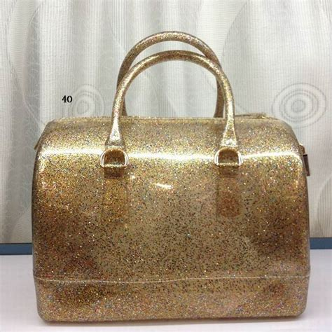 Jelly Chanelly Jelly Bag Gold by Glitter Jelly Rubber Furla Boston Bag Gold 95 12