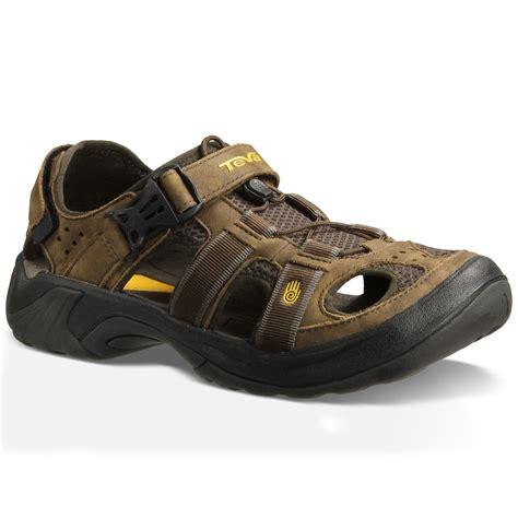 sandals leather teva men s omnium leather sandals brown eastern