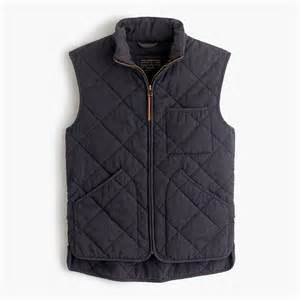 j crew sussex quilted vest in gray for lyst