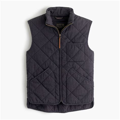 Quilted Vest For by J Crew Sussex Quilted Vest In Gray For Lyst