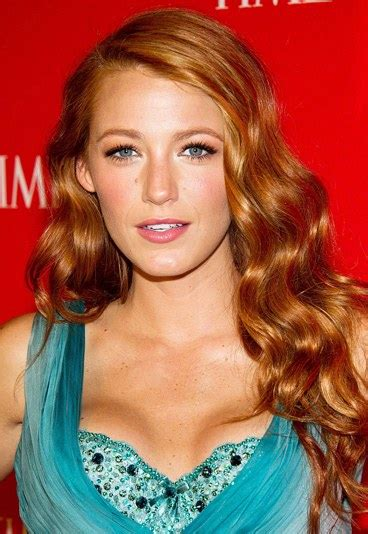 who is a celebraty with red hair celebrity red hair blake lively with red hair