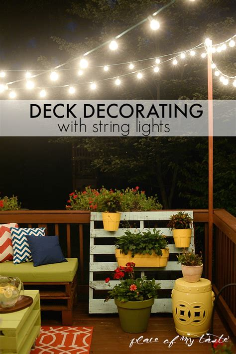 hanging deck lights hang string lights on your deck an easy way